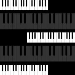 Piano keys on black background