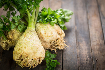 Fresh organic celery
