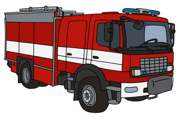 Hand drawing of a firetruck
