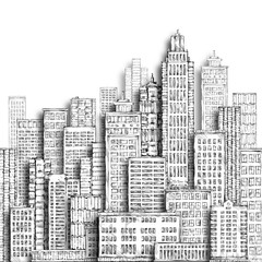 City hand drawn illustration
