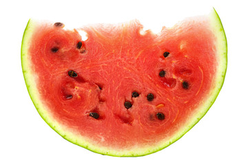 Piece of watermelon isolated on white background
