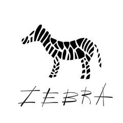 zebra on background vector Illustration