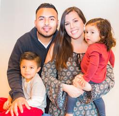 Portrait of Happy Hispanic Family
