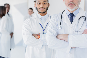 Professional physicians posing with confidence