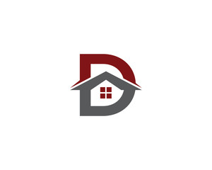 Letter D and Real Estate Logo 1