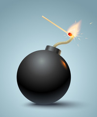 bomb and match
