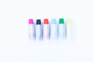 art white plastic pcolor tube on white background