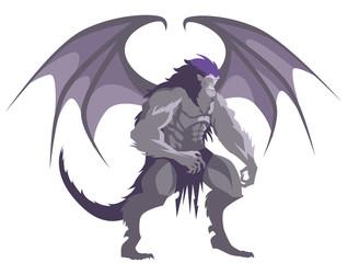 great winged vampire gargoyle werewolf monster creature