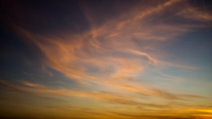 Abendrot auf Wolken