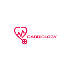 Universal logo for cardiology. The icon for the doctor. Modern logo for medical clinic, vector heart