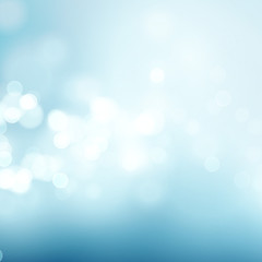 Abstract blue circular bokeh background. Vector illustration