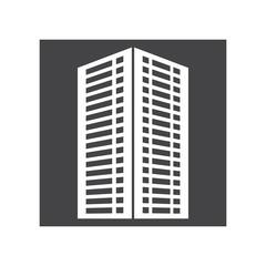 contour building line sticker image icon, vector illustration