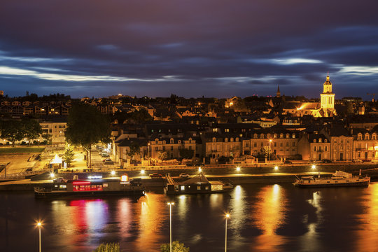 Panorama of Angers at sunset