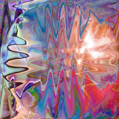 Abstract coloring background of the horizon gradient with visual lighting,wave,spherize and pinch effects