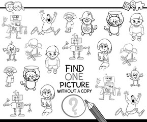 find single item coloring page