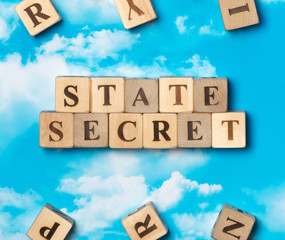 The word state secret on the sky background