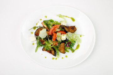 Vegetable salad on a white background