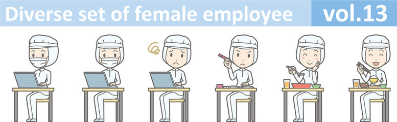 Diverse set of female employee, EPS10 vol.13