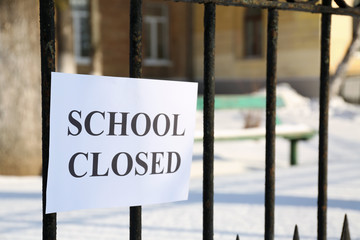 School closed due to heavy snowfall