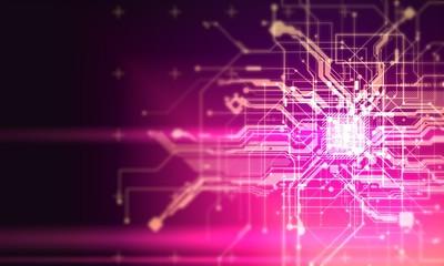 hi tech circuits fantastic absract background cyberpunk cyber pay