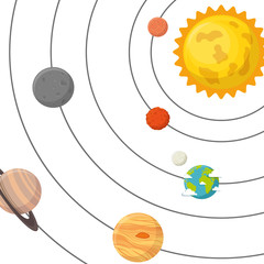 Planet of the solar system vector illustration design