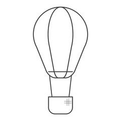 airballoon transport hot gas travel thin line vector illustration eps 10