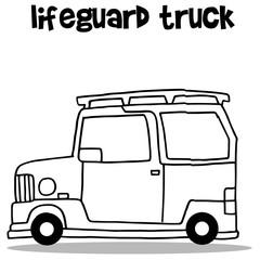 Car of lifeguard transport vector