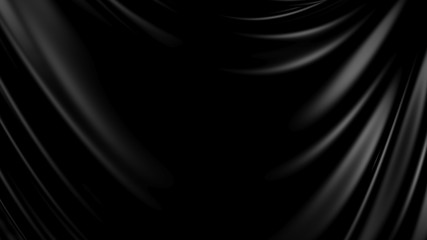 3D Illustration Abstract Black Background Cloth