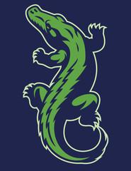 crocodile reptile mascot