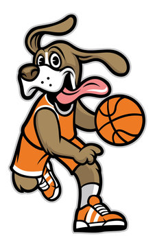 dog basketball mascot