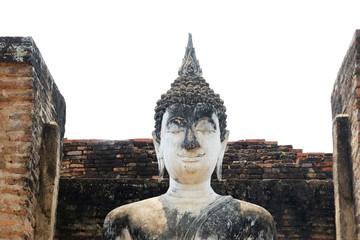 Close up buddha statue in Sukhothai , Thailand
