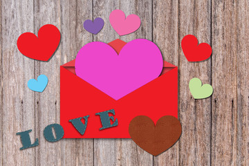heart shape on valentine card
