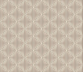 Abstract seamless strips and small squares of white and brown lined in rows to form a continuous pattern