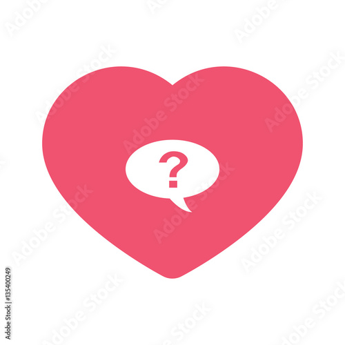 question mark heart. question mark icon inside heart background ...
