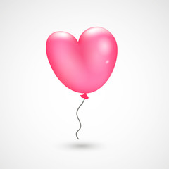 Valentine`s balloon. Vector background, holiday element for your creative design