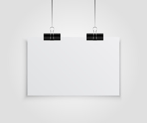 White Empty Poster Template
