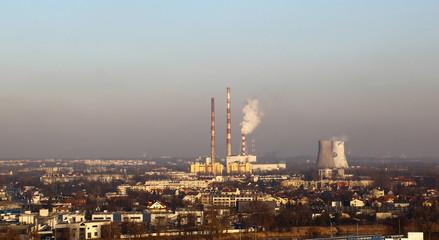 Industrial landscape. Krakow, Poland