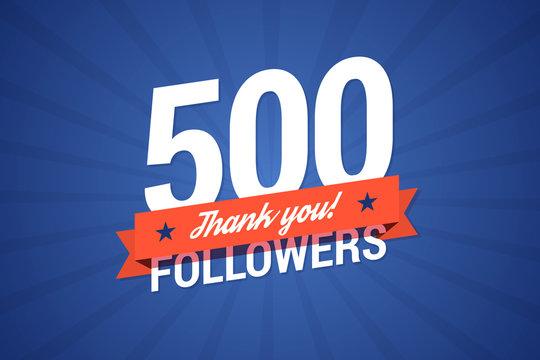 500 followers vector illustration