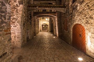 Renaissance corridor street in Tallinn