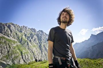 Wanderer an der Zugspitze