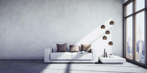 Sofa im NY-Loft