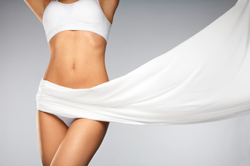 Poster Akt Health. Closeup Of Beautiful Slim Woman Body In Perfect Shape