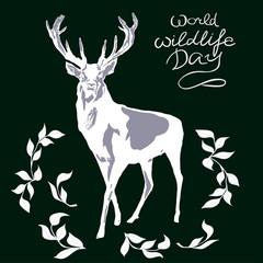 world wildlife day with background.