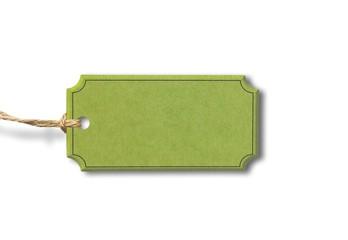 Grünes Label aus Karton