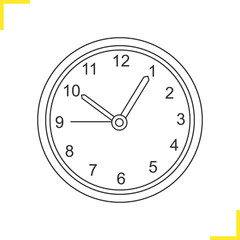 Wall clock linear illustration