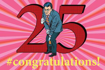 Congratulations 25 anniversary event celebration