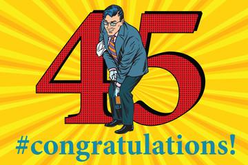 Congratulations 45 anniversary event celebration