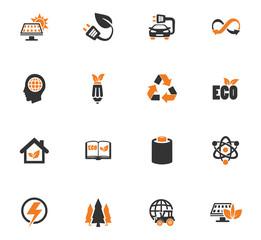 BIO Fuel industry icons set