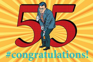 Congratulations 55 anniversary event celebration