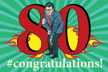 Congratulations 80 anniversary event celebration